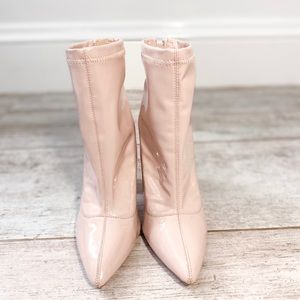 Charlotte Russe BLUSH PINK ankle boots size 6
